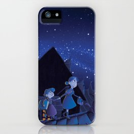 the night on the roofs of Paris iPhone Case