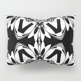 HALF BLACK AND WHITE MANDALA  Pillow Sham