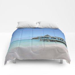 Tropical Paradise Pier on Antigua Comforters