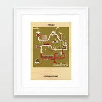 italy Framed Art Prints featuring Italy by federico babina