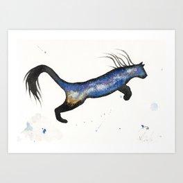 LA Milky Way Cougar Art Print