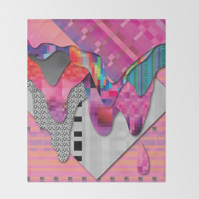 drippy pink Throw Blanket