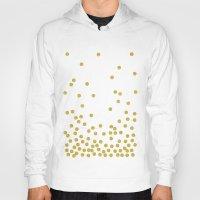 confetti Hoodies featuring Golden Confetti by cafelab