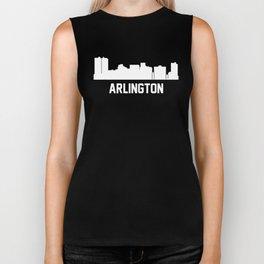 Arlington Texas Skyline Cityscape Biker Tank
