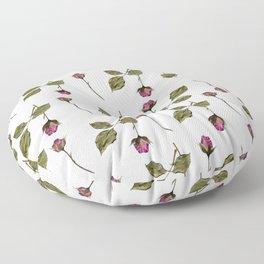 Simple pink rose pattern Floor Pillow