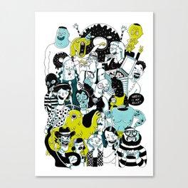 CROWD OF DUDES Canvas Print