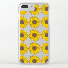 Sunflower Power Clear iPhone Case