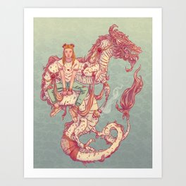 Signe du Dragon Art Print