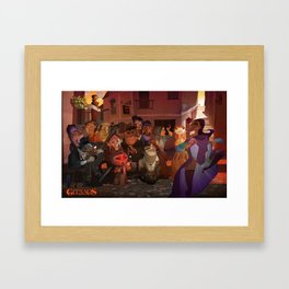 La Calle Framed Art Print