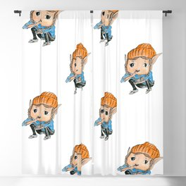 Little cute elf Blackout Curtain