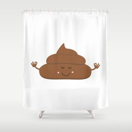 Meditating poo Shower Curtain