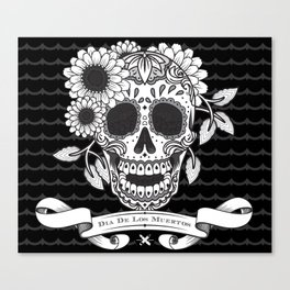 Skull with a pitch of sugar Canvas Print