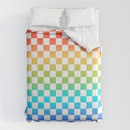 Rainbow Checkerboard Comforters