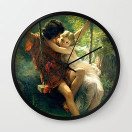 Spring by Pierre Auguste Cot Wall Clock