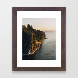 A Curvy Park - Vancouver, British Columbia, Canada Framed Art Print
