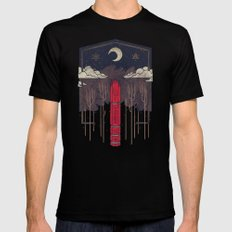 The Lost Obelisk Black LARGE Mens Fitted Tee