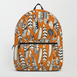 joyful feathers orange Backpack