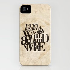 I'm Inspired By The World Around Me Slim Case iPhone (4, 4s)