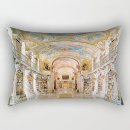 The Magnificent Admont Abbey Library of Admont, Austria Photograph Rectangular Pillow