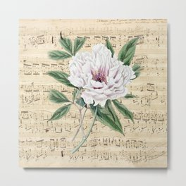 White Peony Dream Metal Print