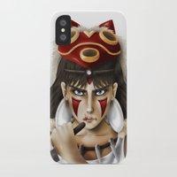 princess mononoke iPhone & iPod Cases featuring Mononoke by Cristina Valero