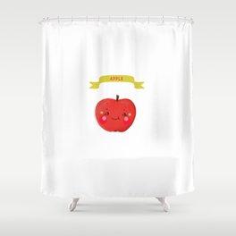 Apple. Kawai Shower Curtain