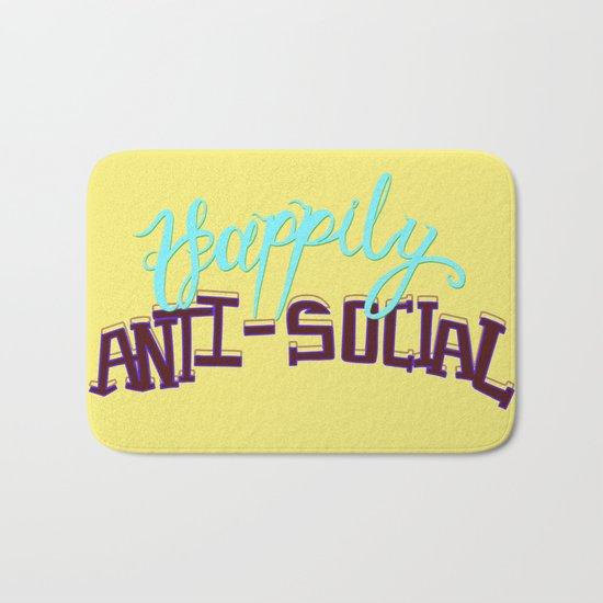 Happily Anti-social Bath Mat