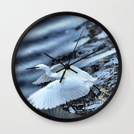 Little Egret taking off Wall Clock