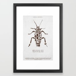 MIB Fan Poster Framed Art Print