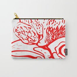 The Eye of the Hen in Red Carry-All Pouch