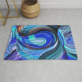 So Nothing Is Created Perfect - Jacuzzi Lagoon Rug