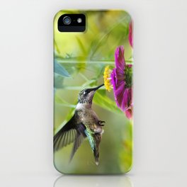 Sweet Hummingbird iPhone Case