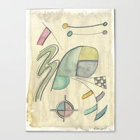 kandinsky Canvas Prints featuring Kandinsky Re-imagined ii (2014) by Eli Dorman
