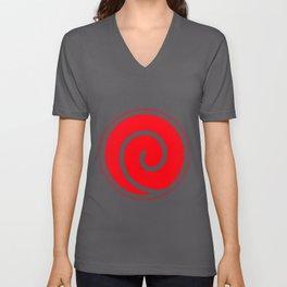 Naruto Uzumaki Clan Symbol Minato Yondaime Anime Men's Black Naruto T-Shirts Unisex V-Neck
