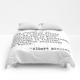 Albert Einstein Quote 08 Comforters