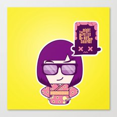 Smart Kokeshi Canvas Print