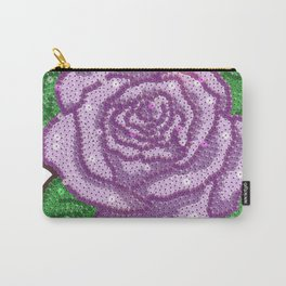Big Sequin Rose in Purple Carry-All Pouch