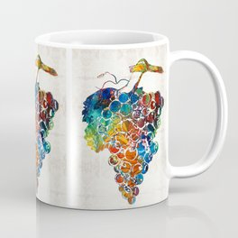 Colorful Grapes Fruit Art by Sharon Cummings Coffee Mug