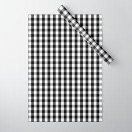 Classic Black & White Gingham Check Pattern Wrapping Paper