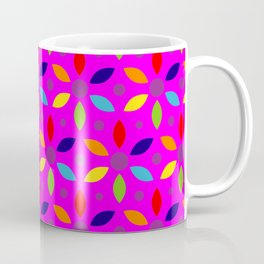 flowery magenta sheild Coffee Mug
