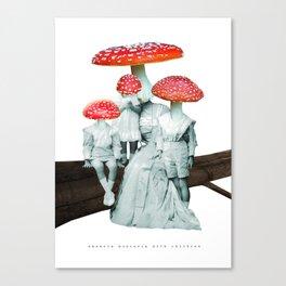 amanita muscaria with children Canvas Print