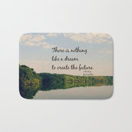 Dream to Create the Future Les Miserables Quote Bath Mat
