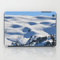 skiing iPad Cases featuring Back-Country Skiing - II by Alaskan Momma Bear