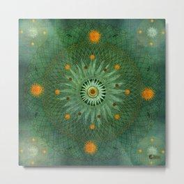 """Celestial Vault Mandala"" Metal Print"