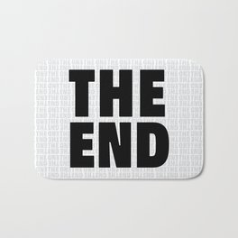 The End Black Bath Mat
