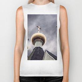Catholic Church Against The Sky Biker Tank