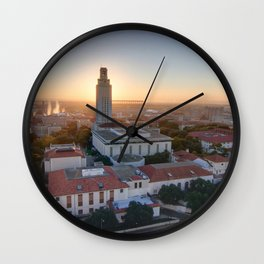 Sunrise Over the University of Texas, Austin Wall Clock