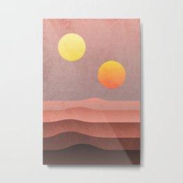 tatooine sunset Metal Print