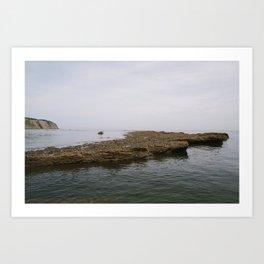 Seaside Stones Art Print