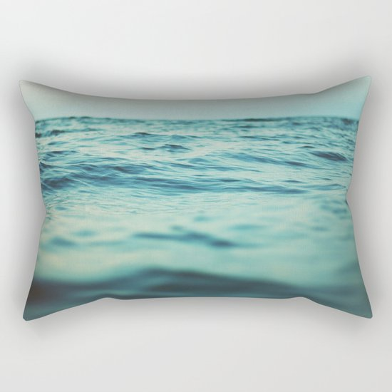 Aqua Sea Rectangular Pillow